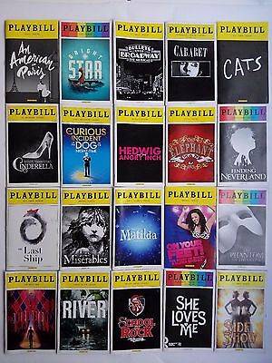 Broadway Playbills: Lot of 20 - Bright Star, Hedwig, Les Miserables, and more!