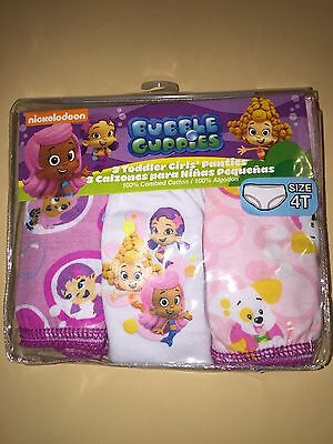 Bubble Guppies Toddler Girl 3 Pairs Panties Underwear New 4T