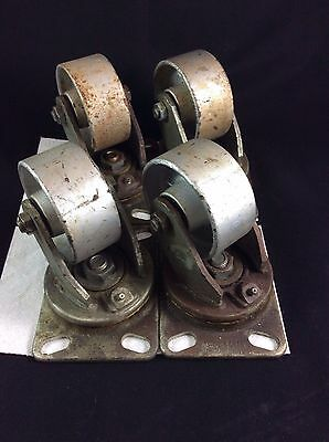 Four Albion Industries AT720002 Vintage Casters-Great for Industrial Furniture!