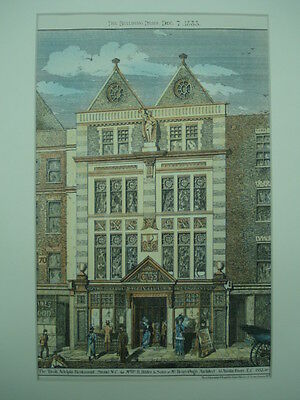 The Tivoli Adelphi Restaurant, London, England, 1883, Original Plan