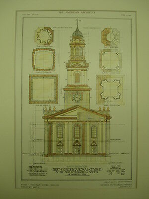 First Congregational Church, Danbury, CT, 1909, Original Plan