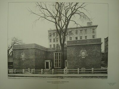 The Big Tree Swimming Pool, Cambridge, MA, 1902, Photogravure