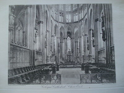 Cologne Cathedral, Choir East View, 1886- Photogravure