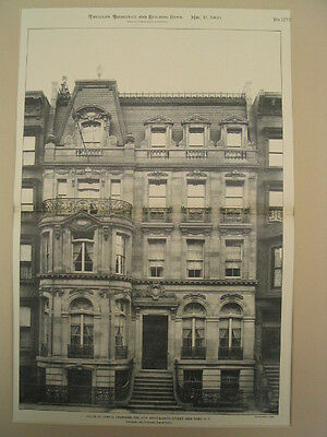 Crummins House, New York, NY, 1900, Photogravure
