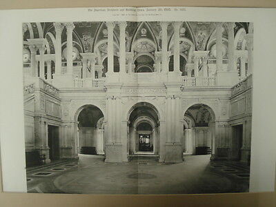 Entrance to the Library of Congress, DC, 1898, Gelatine