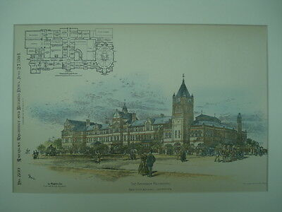 The Battersea Polytechnic, Battersea, London, England, 1891, Original Plan