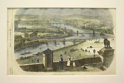 The City of Paris, 1862, Hand-Colored