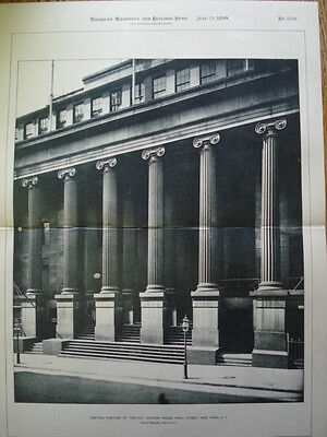 Custom House: Wall St. New York, 1899. Photogravure