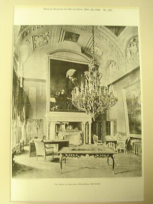 Queen of Holland's Work-Room, Amsterdam, 1899,  Photo