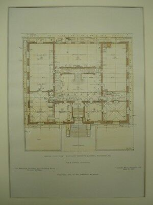Ground Floor Plan, Maryland Institute Building, Baltimore, MD, 1907, Orig. Plan
