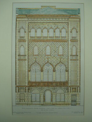 Wetzel Building, New York, New York, 1905, Original Plan