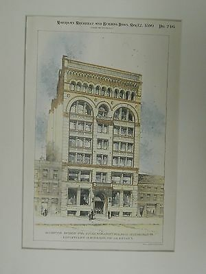 Accepted Design for J.J. Vandergrift Building, Pittsburgh, PA, 1890, OrigPlan.