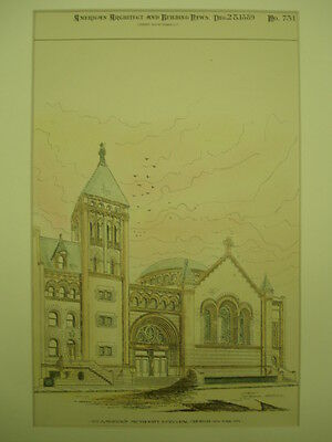 St. Andrew's Methodist Episcopal Church, New York, New York, 1889, Original Plan