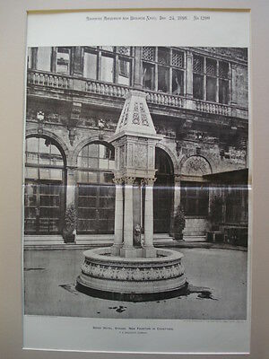 Fountain in Savoy Hotel, London, England, 1898, Photo