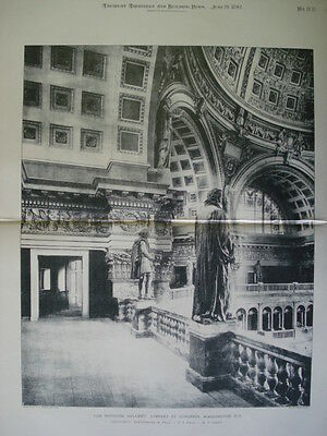 Rotunda Gallery: Library of Congress, 1897-Photogravure