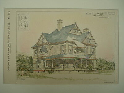 House for C. A. Wilkinson, Esq., Binghamton, NY, 1888, Original Plan
