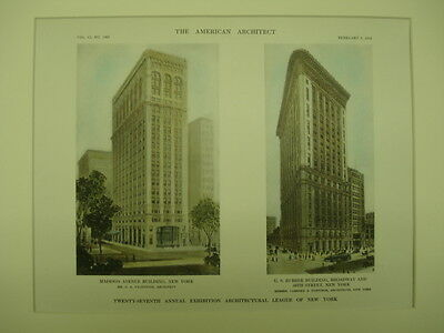 Madison Avenue & U.S. Rubber Buildings, New York, NY, 1912, Original Plan