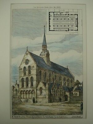 Church of the Transfiguration, Lewisham, London, UK, 1882, Original Plan