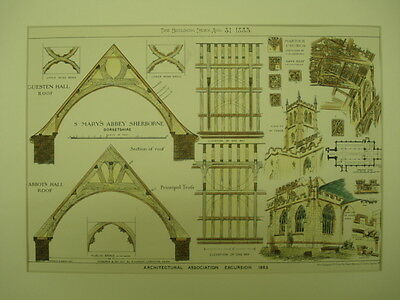 St. Mary's Abbey, Sherborne, Dorset, England, 1883, Original Plan