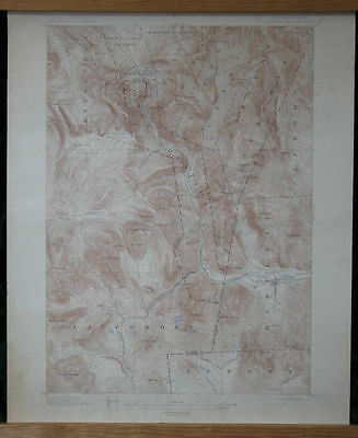 CRAWFORD NOTCH Sheet Topo Map 15 min 1896/1899 NH Livermore Bartlett Saco River