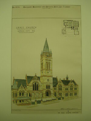 Grace Church, Kansas City, MO, 1887, Original Plan