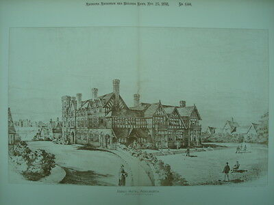Abbey Hotel, Kenilworth, England, 1891, Original Plan