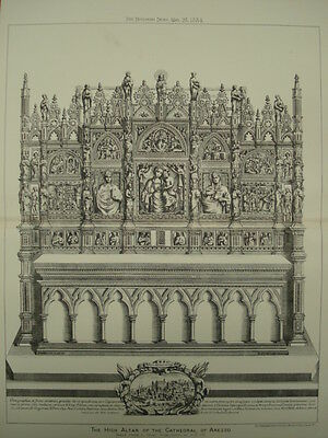 High Altar, Cathedral of Arezzo, Arezzo, Tuscany, Italy, 1884, Original Plan
