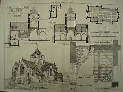 St. Augustine's Church, Croydon, Surrey, UK, 1881, Original Plan