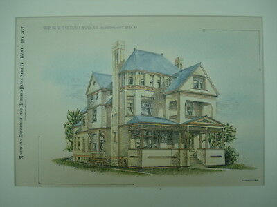 House for Dr. W. T. Bolton, Batavia, NY, 1890, Original Plan