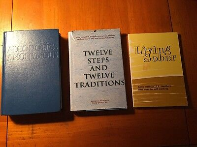 alcoholics anonymous books The Big Book + Twelve By Twelve + Living Sober (3)