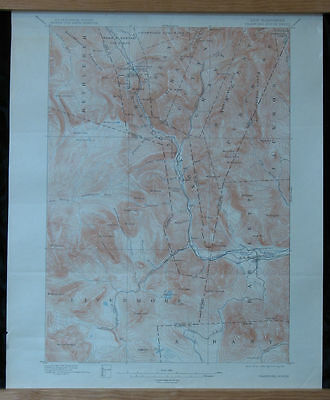 CRAWFORD NOTCH Sheet NH Topo Map 15 min 1896/1914 Livermore Bartlett Saco River