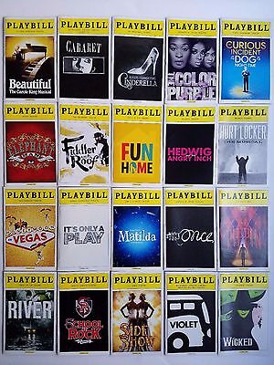 Broadway Playbills: Lot of 20 - The Color Purple, Fun Home, Pippin, and more!