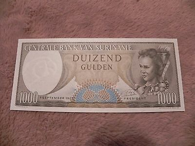 Suriname 1963 1000 Gulden Note  - Nice Crisp Uncirculated Note
