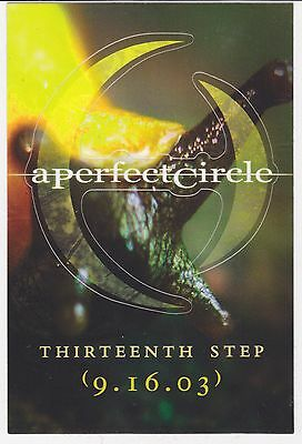 A Perfect Circle STICKER Thirteenth Step 2003 OFFICIAL PROMO NEW MINT RARE Tool