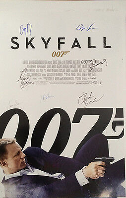 Skyfall Movie Poster Signed Cast Rare Collectible