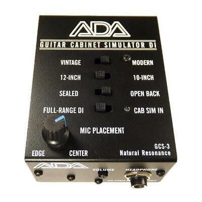NEW! A/DA GSC-3 Guitar Cabinet Simulator & DI Box