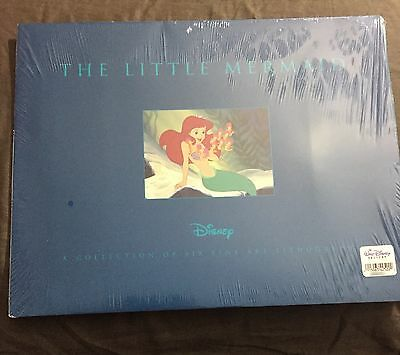 "Disney Little Mermaid Six 11""x14"" Art Lithographs RARE SET OF 6 **NEW & SEALED!"