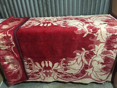 Vintage Antique Horse Hair Throw Carriage Sleigh Chase Buggy Blanket Wool 74x50
