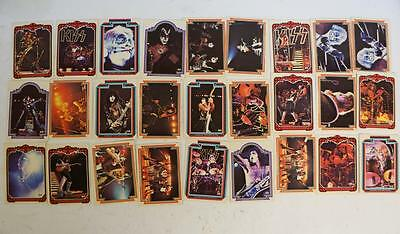 Lot Of 27 Vintage Kiss Gene Simmons Paul Stanley Ace Frehley Trading Cards  G299