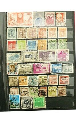 China Stamps Lot of 50 over USED&UNUSED Taiwan Manchukuo