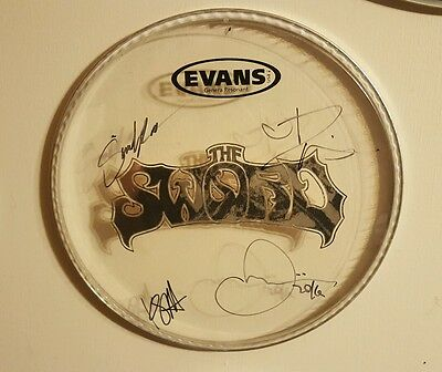 Rare! THE SWORD Autographed Signed Drumhead by All!