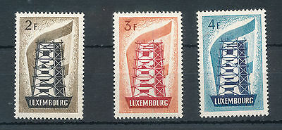 Luxembourg 1956 Europa Set Mounted Mint (3 Stamps) S6351