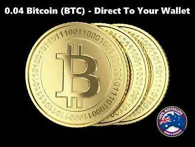 0.04 Bitcoin (BTC) - Mined Bitcoin Direct To Your Wallet - By CryptoCoinShop