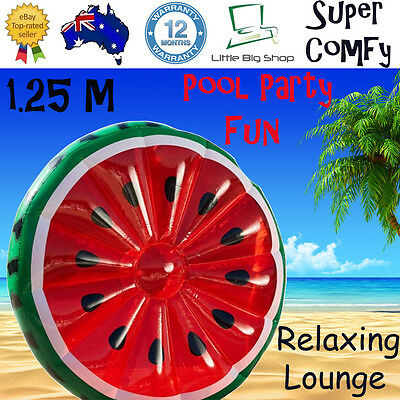 New INFLATABLE WATERMELON POOL FLOAT TOY Swimming Party Lounge Floats Fruit