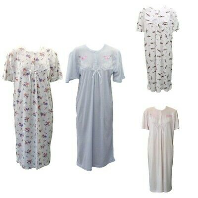 NEW Women's Ladies 100% Cotton Nightie Night Gown Pajamas Pyjamas PJ Sleepwear