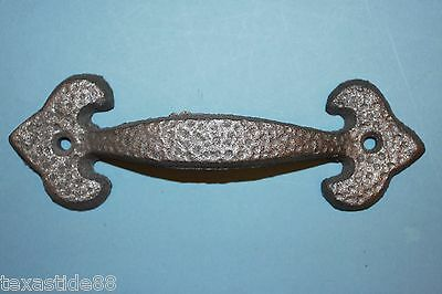 (8) 7 Inch Large Gate Pulls, Cast Iron Shed Pull, Rustic Fence Decor, Hw-14