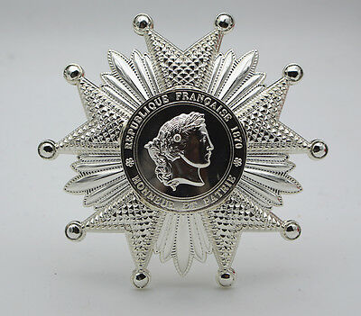 French Legion of Honor Breast Star in Silver Reproduction