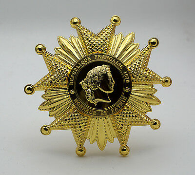 French Legion of Honor Breast Star in Gold Reproduction