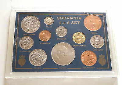 1967 UK GB Farewell £sd coin set EF Uncirculated 11 coins
