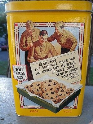 Nestle Toll House Chocolate Chip Cookies Collectible Metal Kitchen Tin